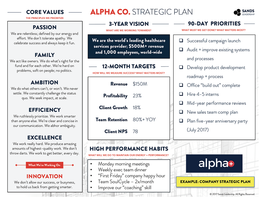 company strategic plan